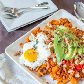 Sweet Potato & Turkey Hash. Perfect for Holiday Leftovers too!