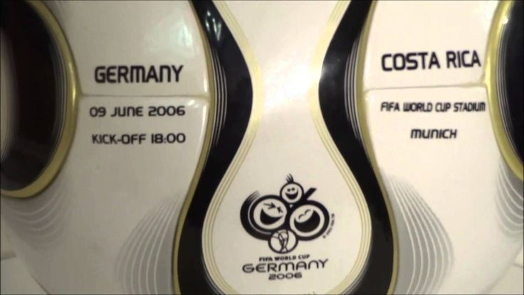 World Cup Germany 2006 vs Costa Rica Matchball Soccer Fußball + teamgeist