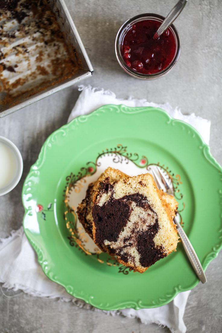 Zuckerzimtundliebe Rezept Rote Grütze Marmorkuchen Kirschgrütze Backrezept Kastenkuchen Kastenform Sandkuchen saftiges Kuchenrezept-6