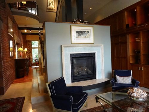Devine paint around fireplace