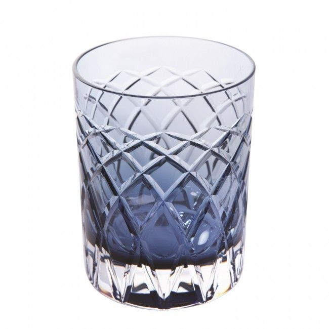 Royal Brierley Harris Tumbler Glass Ink Blue