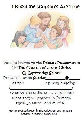 Primary program invites