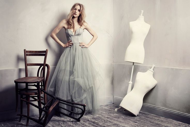 HandM Conscious Exclusive Collection tulle dress - all made from recycled materials! Just stunning.    On the blog: Is Eco-Fashion a thing now?
