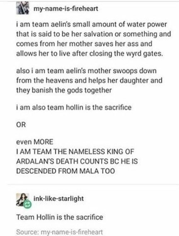 Team Evalin (Aelin's mother) saves her daughter! Or you know, nameless king of adarlan i'm cool with that too