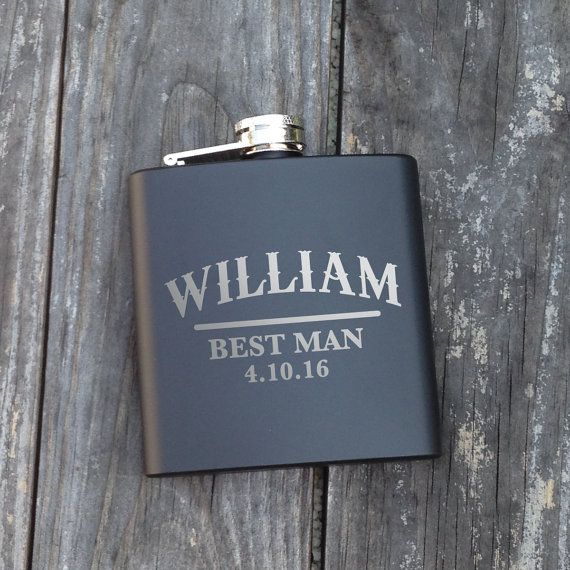 1 Personalized Groomsmen Flask Personalized by ChickDesignBoutique