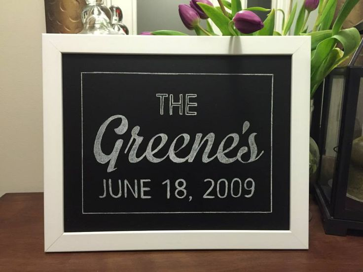 9 best our family name chalkboards images on pinterest chalk