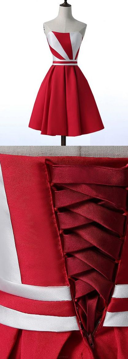 Red Prom Dresses, Short Prom Dresses, Lace Prom Dresses, Prom Dresses Short, Red Lace Prom dresses, Short Red Homecoming Dresses, Strapless Prom Dresses, Short Red Prom Dresses, Short Homecoming Dresses, Red Lace dresses, Red Homecoming Dresses, Lace Up Prom Dresses, Bandage Homecoming Dresses, Strapless Homecoming Dresses