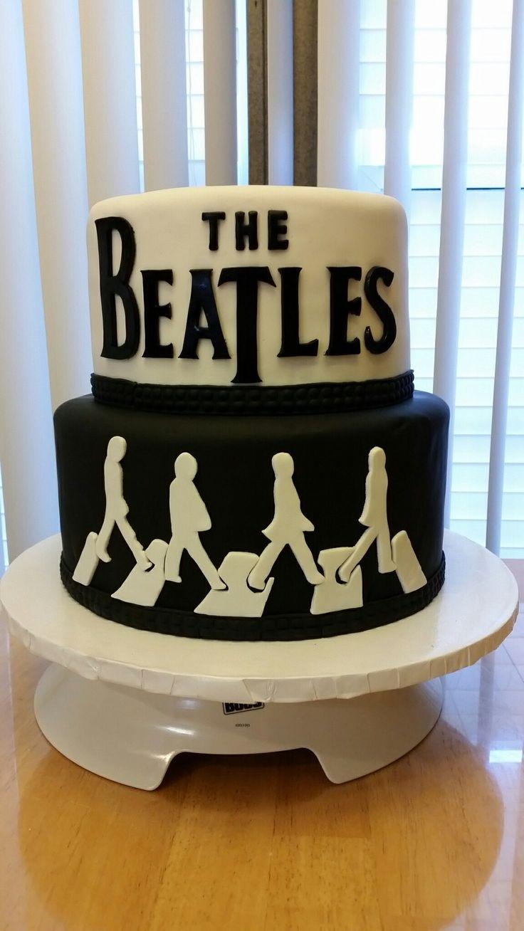 The Beatles theme 60th birthday cake