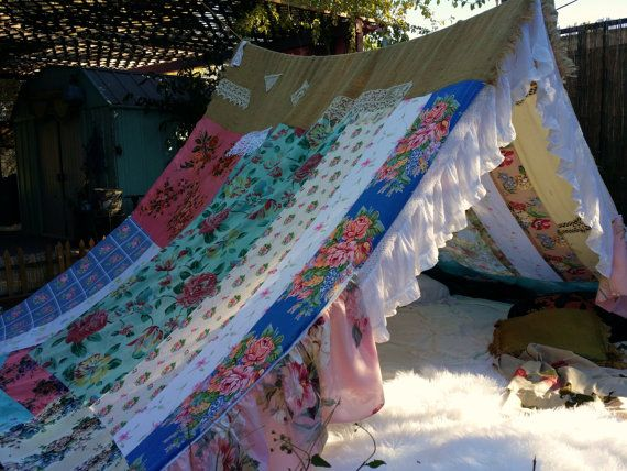 Boho tent MADE to order shabby chic glamping teepee ...