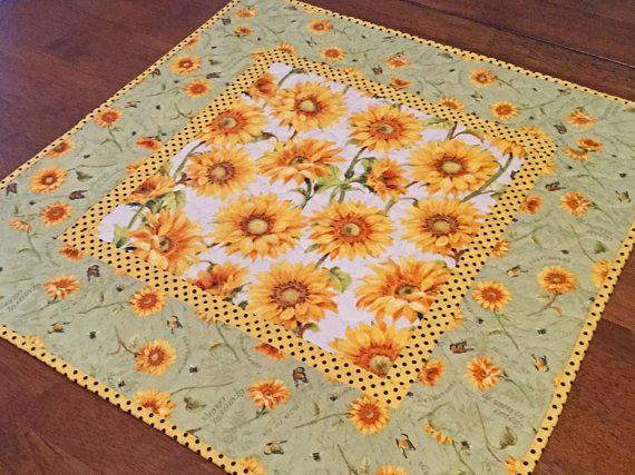 Quilted Sunflower Table Topper Sunflower Table Runner