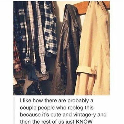 castiel, coat, dean, flannel, funny, hipster, jacket, sam, supernatural, tumblr, vintage, winchester, obious