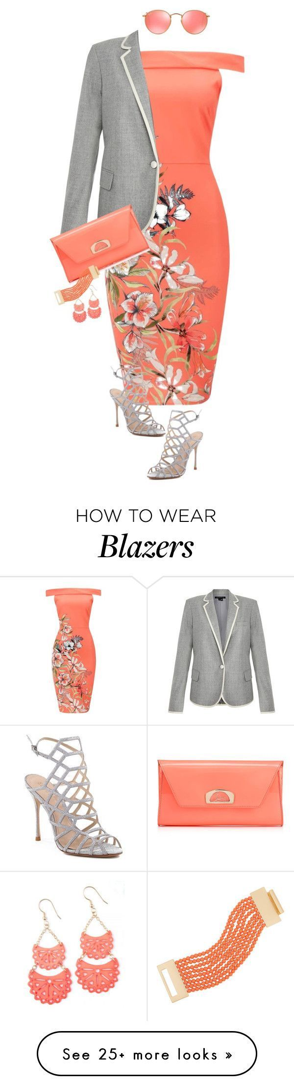 """""""1265"""" by mljilina on Polyvore featuring Theory, Schutz, Ray-Ban, Christian Louboutin and Kenneth Jay Lane"""