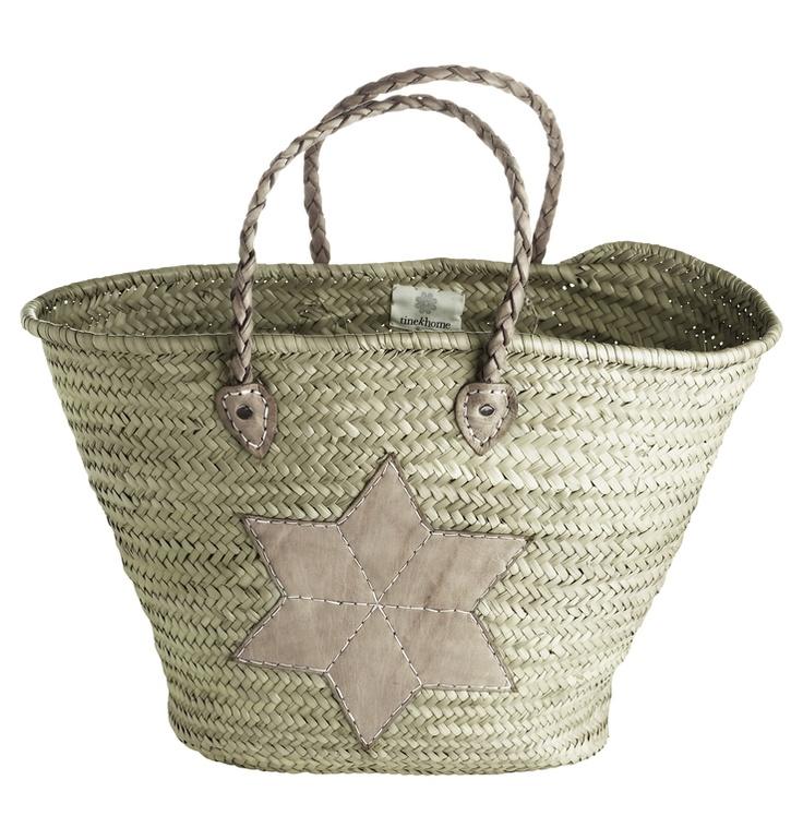 Leather Star Bag   B A G S - Korbtasche, Einkaufstasche en ...