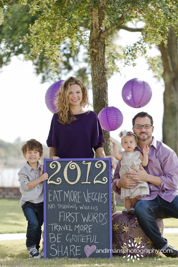 New Years Family Portrait Ideas