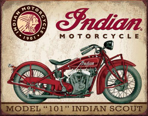Indian Scout Tin Sign Tin Sign at AllPosters.com