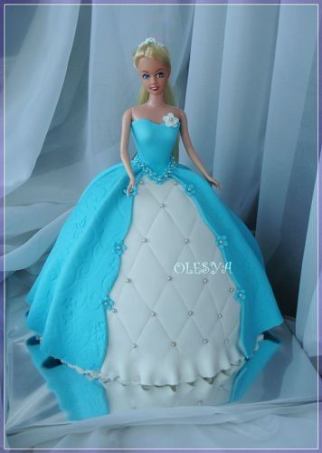 Beautiful Barbie Doll Cakes