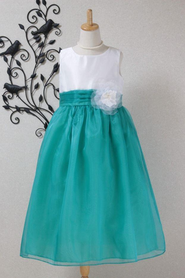 子供ドレス 発表会 結婚式6-1217W(160cm)ジェードグリーン
