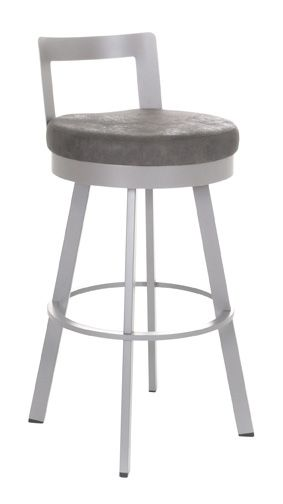 Blake Swivel Stool In Platina Metal Colfax Here We Come