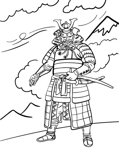 Printable Samurai Coloring Page Free PDF Download At