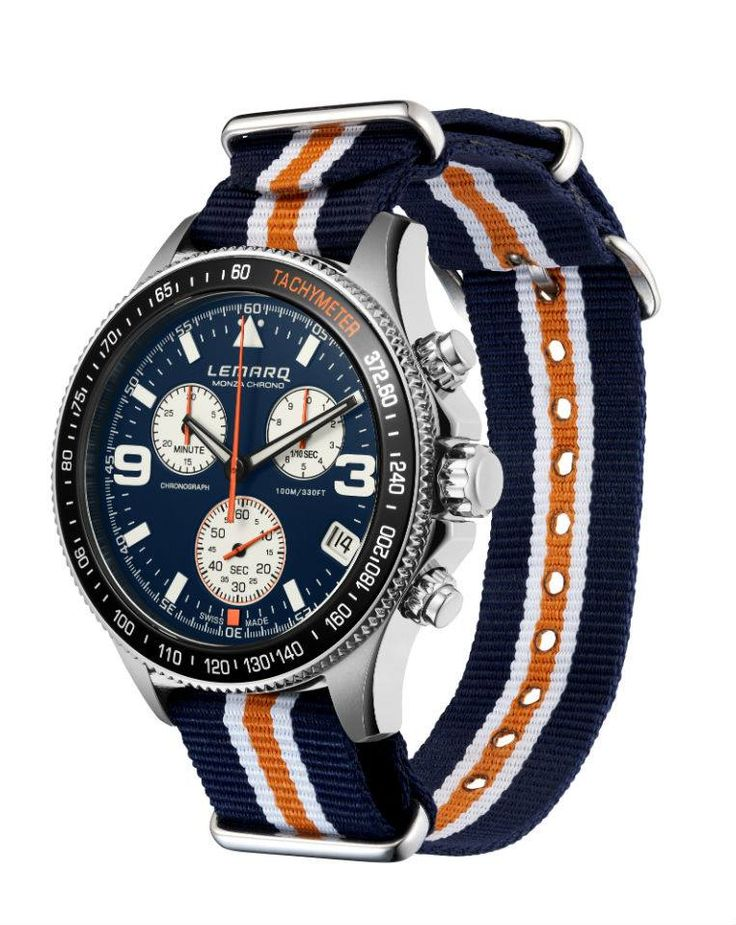 Blue, White or Black? Configure your own Monza Chrono @ www.lemarqwatches.com.