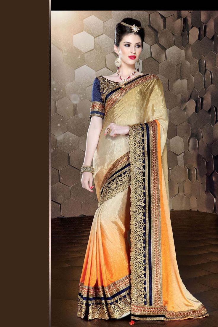 Golden Silk Bridal Saree
