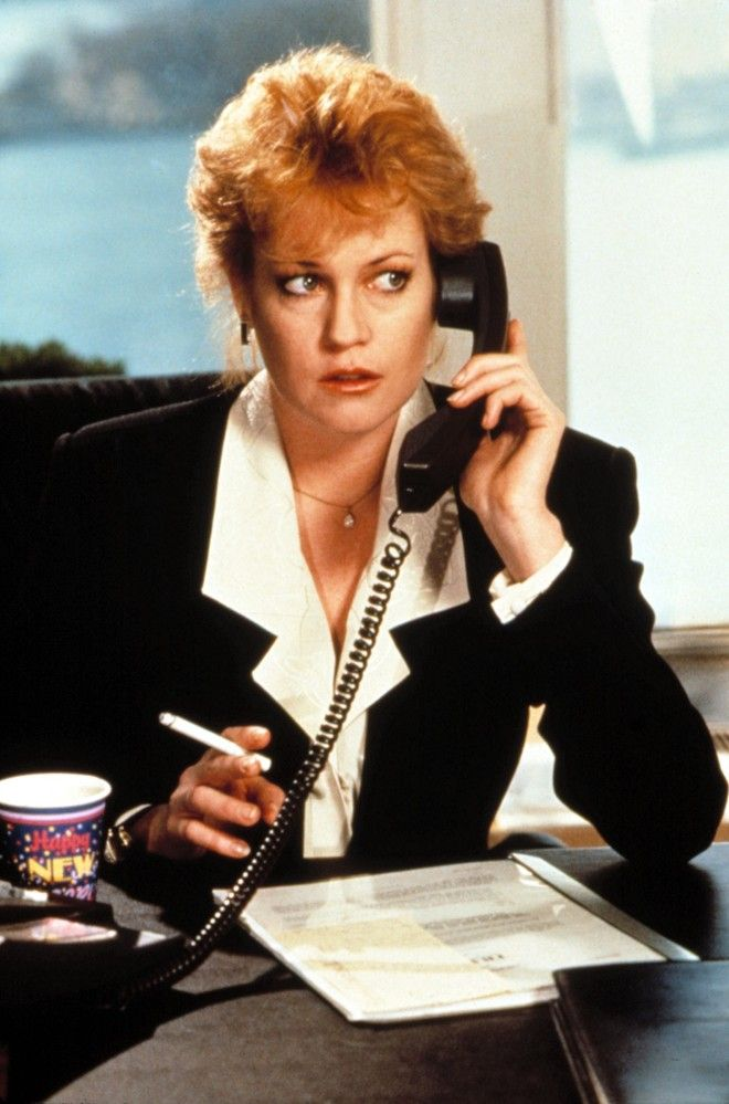 "Melanie Griffith in ""Working Girl,"" 1980s. My FAVORITE movie. -Jenn"