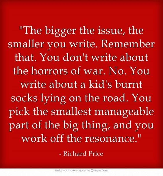 This is a good quote about how to start a story. Stories are always within stories.