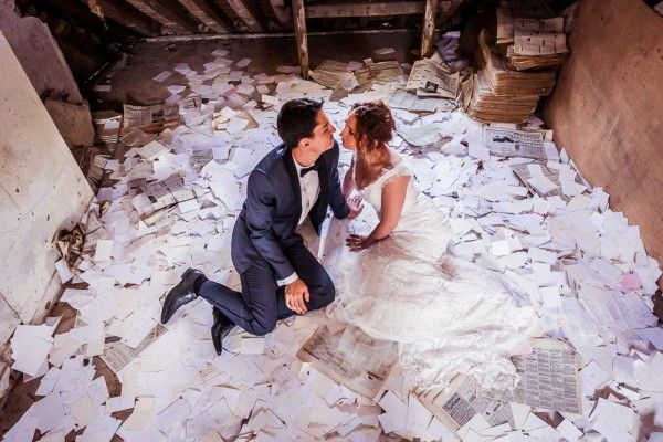 Post-Wedding Shoot in an Abandoned Castle