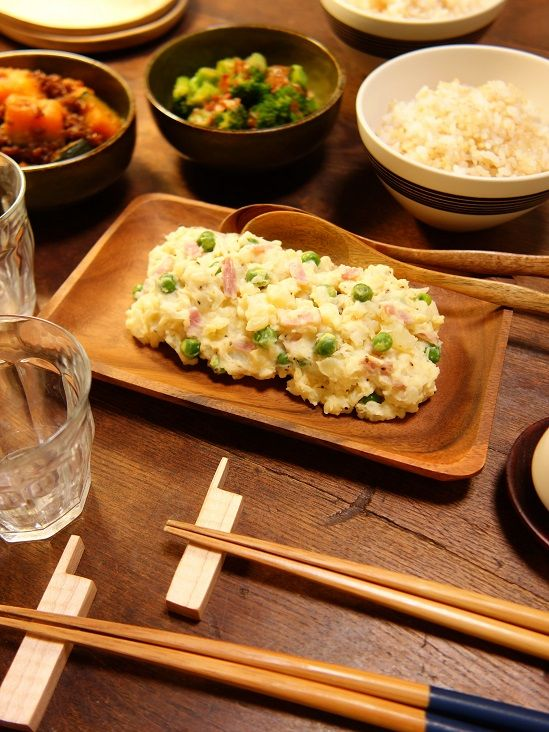 いつもの料理を和のスパイスでアレンジ~♪旬の春野菜で作る~!緑鮮やかホクホク☆グリンピースと新玉ねぎたっぷり!!!新じゃがジンジャーポテトサラダ3 -Recipe No.1608-