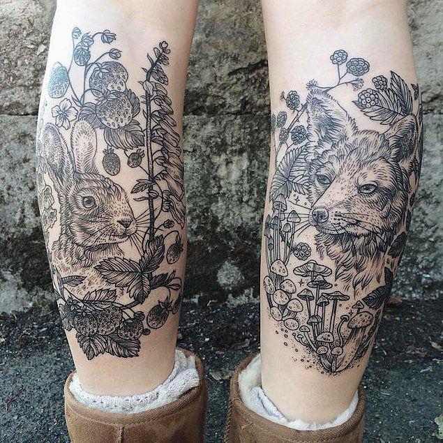 Винтажные татуировки с животными от Пони Рейнхардт.