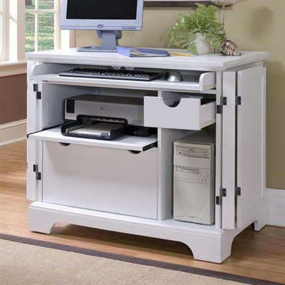 Delicieux Hiding The Printer Home Styles 5530 19 Naples Compact Computer Component  Cabinet, White