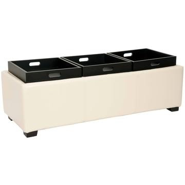 Same bench showing the traysTriple Trays, Harrison Triple, Trays Ottoman, Products