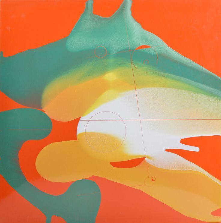 JOSEPH STANISLAUS OSTOJA-KOTKOWSKI (1922-1994) Abstract (Orange and Green)