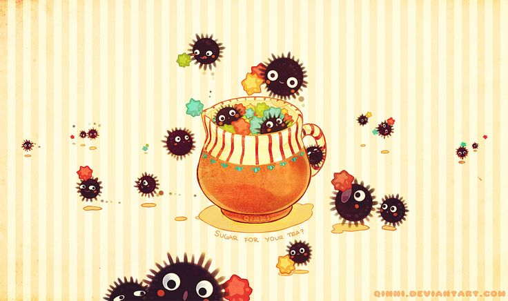 Some Sugar For Your Tea? by *Qinni on deviantART. Susuwatari from spirited away on Wallpaper !