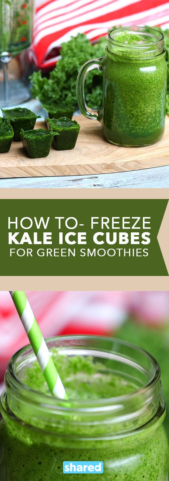 How To: Freeze Kale Ice Cubes for Green Smoothies