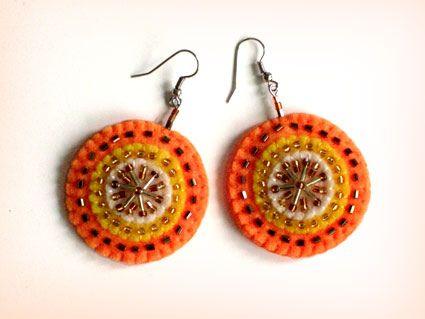 우리 Handmade Orange Earrings | Flickr - Photo Sharing!