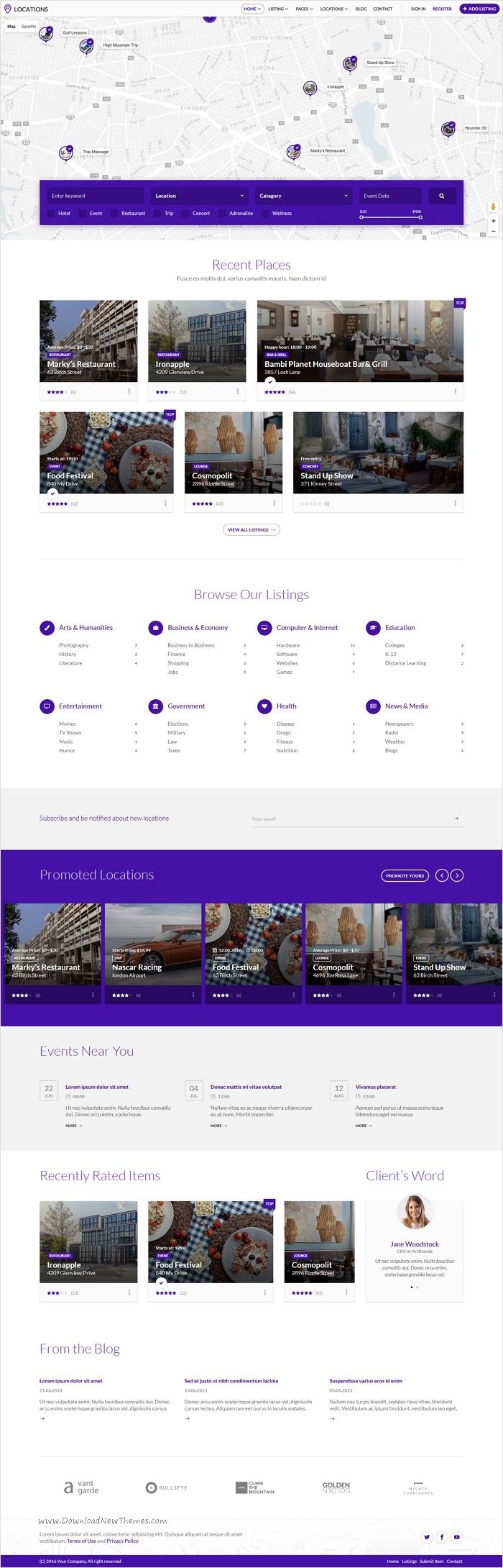 Locations is a versatile premium 8 in 1 #bootstrap HTML #template for #directories, coupons, real estate, car rentals or any general listing website download now➩ https://themeforest.net/item/locations-multipurpose-directory-template/18536570?ref=Datasata