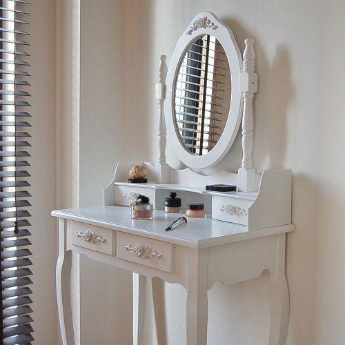 78 best Coiffeuse images on Pinterest Dressing tables, Hairdresser - meuble coiffeuse avec miroir pas cher