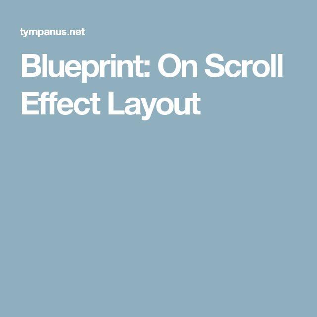 Blueprint: On Scroll Effect Layout