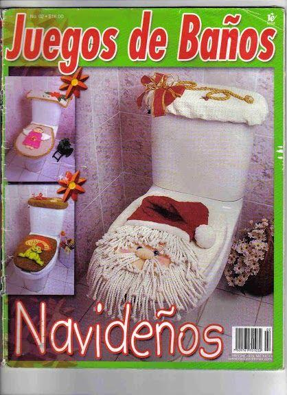 Juego De Baño Navideno De Fieltro:Como Hacer Juegos De Bano