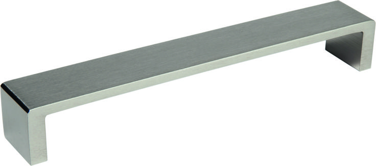 "Ручка мебельная Hafele ""Модерн"", алюминий/ нерж. сталь матовая, 167х160х25мм"