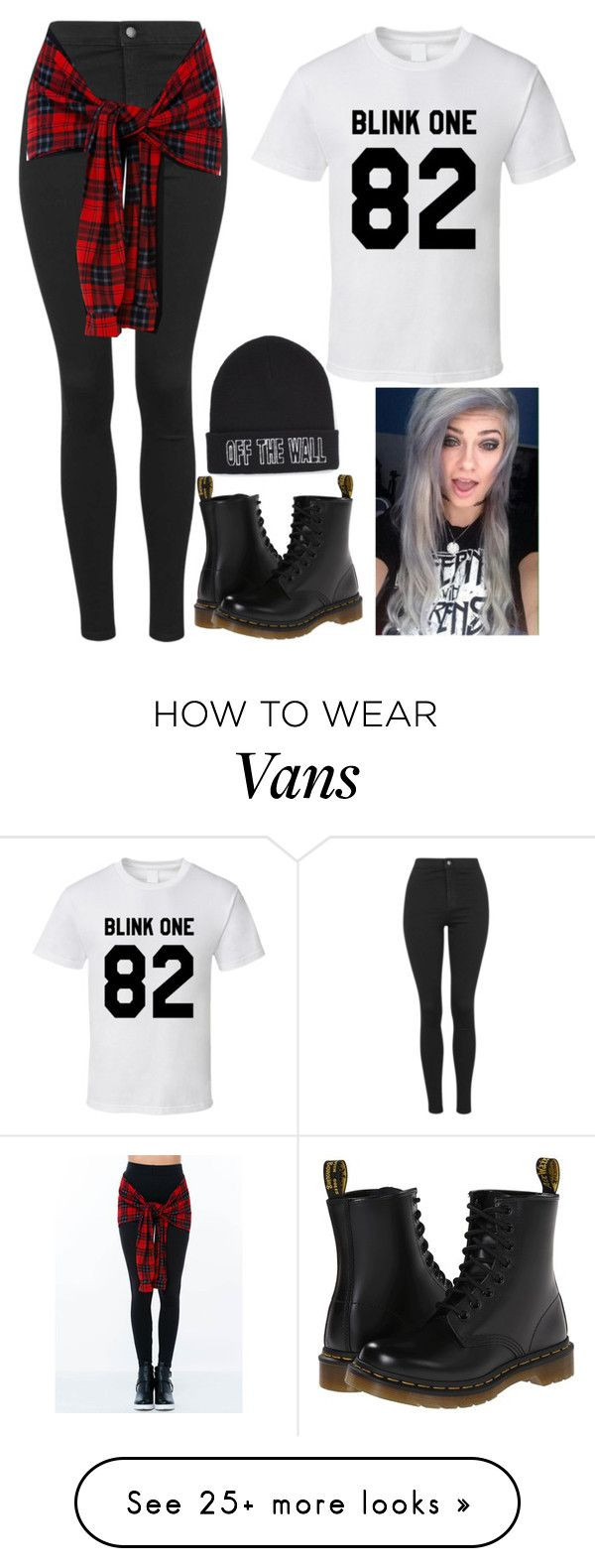 """Untitled #385"" by slowlygivingup724 on Polyvore featuring Topshop, Dr. Martens, Vans, women's clothing, women, female, woman, misses and juniors"