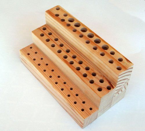 Oil and Acrylic Brush Holder / Storage. Painting Time Saver - This item is a artist brush holder / organizer used to keep your visible and upright to avoid damage to the ends.  This system makes them very easy to find.  The holder is made out of pine.  The brush... - Paint Brush Organizers & Holders - Arts & Crafts - $18.95