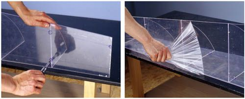 shelf for bathroom made of Plexiglas