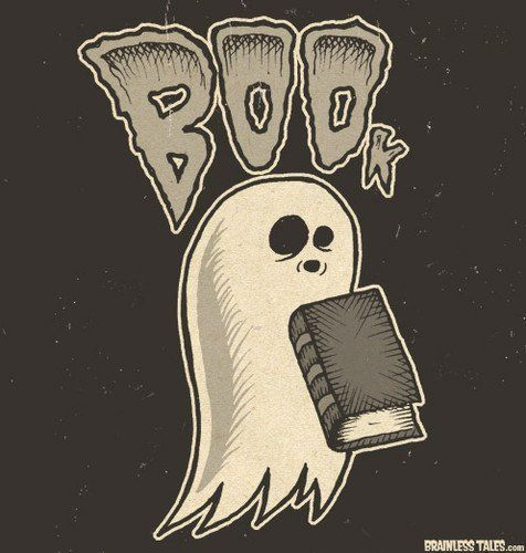 Spooky ghost poster for a book
