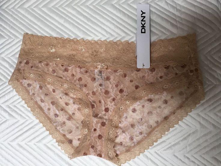 1 DKNY Ladies knickers UK/US- L, CA/MX-G, EU/JP-75 BNWT Beige (4FS)