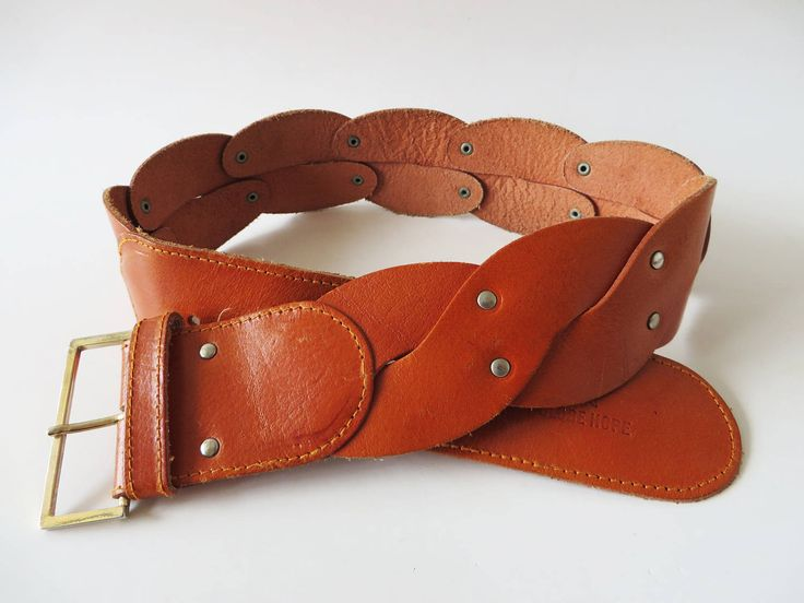 Thick Leather Belt Caramel Brown Leather Belt Genuine Leather Belt Braided Leather Belt Women Waist Belt Wide Leather Belt Boho Fashion by YourEclecticStreet on Etsy