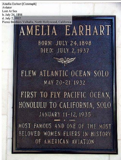 Famous woman pilot Emilia grave site