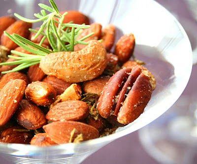 Spicy Rosemary Cocktail Nuts