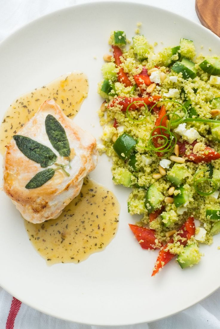Served with a fresh couscous salad bursting with flavours and nutrients, this Lemon Butter Chicken is both tender and juicy.